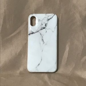 Accessories - White & Gray Marbled iPhone X case